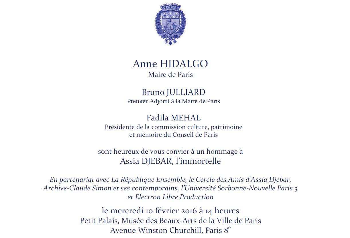Assia-Djebar-invitation-officielle